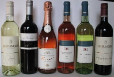 6 Weinflaschen aus Deutschland