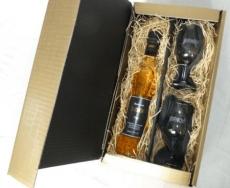 Bodensee-BIRNOH® Birnen-Spirituose 0.5 Ltr. Flasche  im Geschenkkarton mit 2 edlen Gläsern!