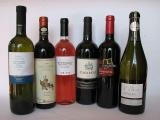 6 verschiedene Weinflaschen aus Italien