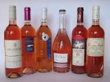 6 Weinflaschen internationale Rosé -voll im Trend